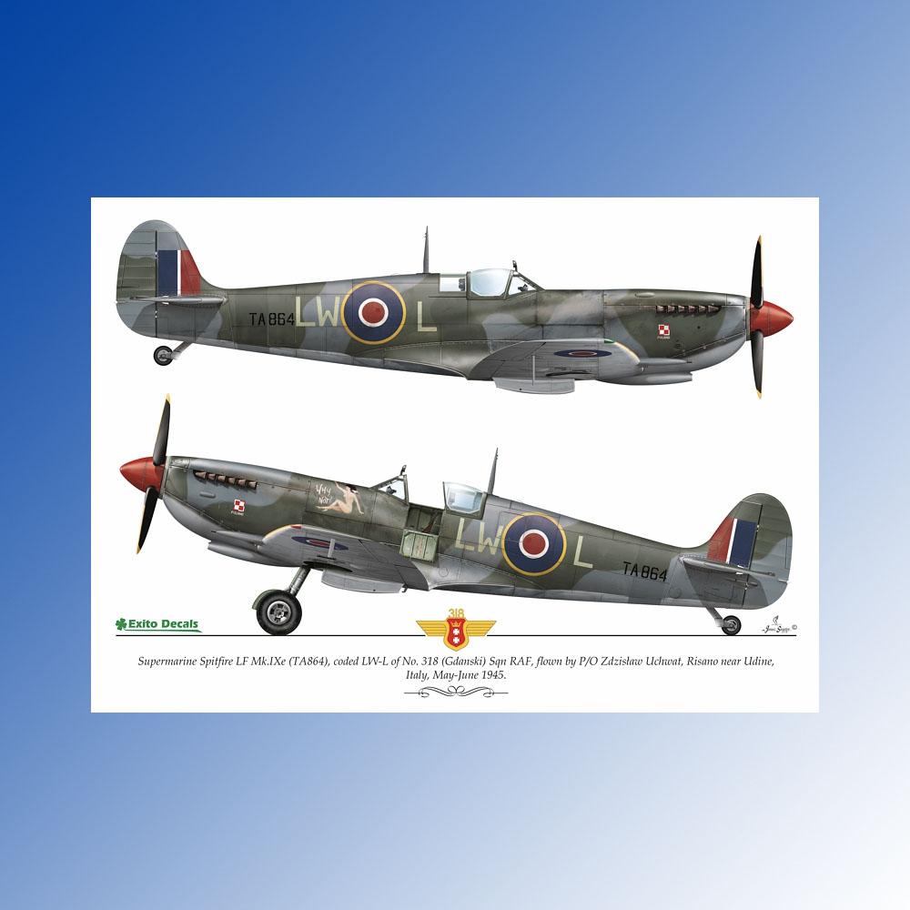 ED48003 - 1:48 Sexy Spitfires - Supermarine Spitfire LF Mk Vb - VIII - IXe  EXITO DECALS